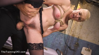 Photo number 5 from Slave Training Gorgeous Newbie: Riley Nixon shot for The Training Of O on Kink.com. Featuring Ramon Nomar and Riley Nixon in hardcore BDSM & Fetish porn.