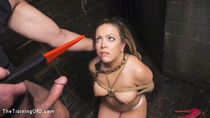 Photo number 10 from Training Carmen Valentina shot for The Training Of O on Kink.com. Featuring Charles Dera and Carmen Valentina in hardcore BDSM & Fetish porn.
