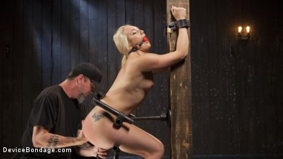 Photo number 1 from Of the Body and Mind shot for Device Bondage on Kink.com. Featuring AJ Applegate and The Pope in hardcore BDSM & Fetish porn.