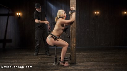 Photo number 3 from Of the Body and Mind shot for Device Bondage on Kink.com. Featuring AJ Applegate and The Pope in hardcore BDSM & Fetish porn.