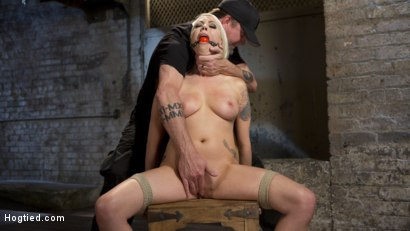 Photo number 1 from Lorelei Lee Submits to Extreme Bondage and Grueling Torment shot for Hogtied on Kink.com. Featuring Lorelei Lee and The Pope in hardcore BDSM & Fetish porn.