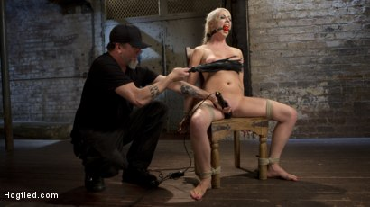 Photo number 2 from Lorelei Lee Submits to Extreme Bondage and Grueling Torment shot for Hogtied on Kink.com. Featuring Lorelei Lee and The Pope in hardcore BDSM & Fetish porn.