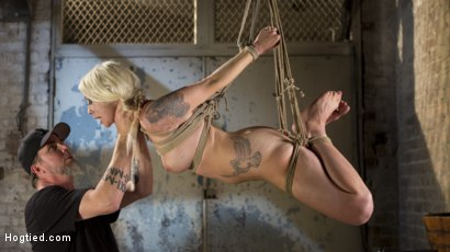 Photo number 11 from Lorelei Lee Submits to Extreme Bondage and Grueling Torment shot for Hogtied on Kink.com. Featuring Lorelei Lee and The Pope in hardcore BDSM & Fetish porn.