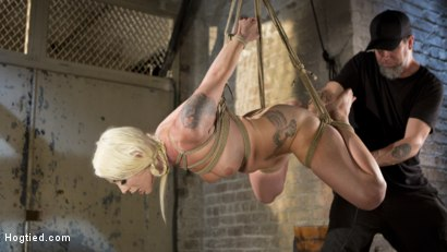 Photo number 12 from Lorelei Lee Submits to Extreme Bondage and Grueling Torment shot for Hogtied on Kink.com. Featuring Lorelei Lee and The Pope in hardcore BDSM & Fetish porn.