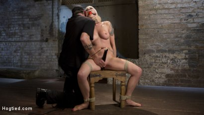 Photo number 3 from Lorelei Lee Submits to Extreme Bondage and Grueling Torment shot for Hogtied on Kink.com. Featuring Lorelei Lee and The Pope in hardcore BDSM & Fetish porn.