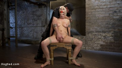 Photo number 8 from Lorelei Lee Submits to Extreme Bondage and Grueling Torment shot for Hogtied on Kink.com. Featuring Lorelei Lee and The Pope in hardcore BDSM & Fetish porn.