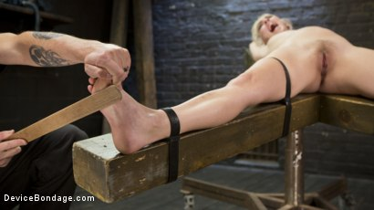 Photo number 13 from The New Bitch shot for Device Bondage on Kink.com. Featuring Cadence Lux and The Pope in hardcore BDSM & Fetish porn.