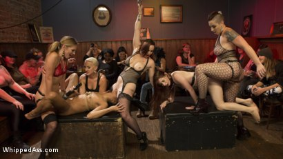 Photo number 1 from Dyke Bar LIVE!!! shot for Whipped Ass on Kink.com. Featuring Mistress Kara, Mona Wales, Bella Rossi, Kira Noir, Violet Monroe, Mimosa and Dylan Ryan in hardcore BDSM & Fetish porn.