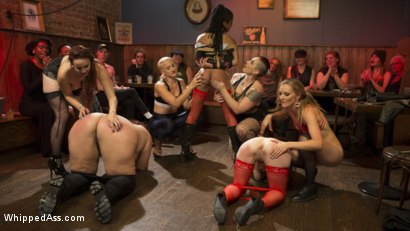 Photo number 11 from Dyke Bar LIVE!!! shot for Whipped Ass on Kink.com. Featuring Mistress Kara, Mona Wales, Bella Rossi, Kira Noir, Violet Monroe, Mimosa and Dylan Ryan in hardcore BDSM & Fetish porn.