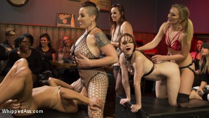 Photo number 15 from Dyke Bar LIVE!!! shot for Whipped Ass on Kink.com. Featuring Mistress Kara, Mona Wales, Bella Rossi, Kira Noir, Violet Monroe, Mimosa and Dylan Ryan in hardcore BDSM & Fetish porn.