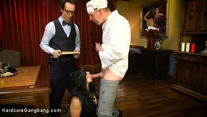 Photo number 2 from Lea Lexis in Bourgeois Filth & The Litanies of Perversion shot for Hardcore Gangbang on Kink.com. Featuring Lea Lexis, Gage Sin, Mark Wood, Owen Gray and Charles Dera in hardcore BDSM & Fetish porn.