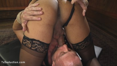 Photo number 11 from First Time Cream Pie  shot for TS Seduction on Kink.com. Featuring Honey FoXXX and D. Arclyte in hardcore BDSM & Fetish porn.