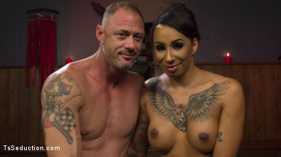 Photo number 15 from First Time Cream Pie  shot for TS Seduction on Kink.com. Featuring Honey FoXXX and D. Arclyte in hardcore BDSM & Fetish porn.