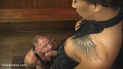 Photo number 18 from First Time Cream Pie  shot for TS Seduction on Kink.com. Featuring Honey FoXXX and D. Arclyte in hardcore BDSM & Fetish porn.