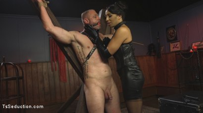 Photo number 3 from First Time Cream Pie  shot for TS Seduction on Kink.com. Featuring Honey FoXXX and D. Arclyte in hardcore BDSM & Fetish porn.