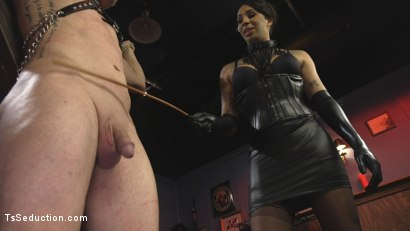 Photo number 4 from First Time Cream Pie  shot for TS Seduction on Kink.com. Featuring Honey FoXXX and D. Arclyte in hardcore BDSM & Fetish porn.
