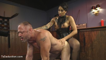 Photo number 23 from First Time Cream Pie  shot for TS Seduction on Kink.com. Featuring Honey FoXXX and D. Arclyte in hardcore BDSM & Fetish porn.