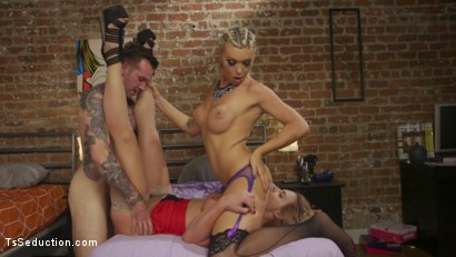 Photo number 10 from Phoenix Marie's TS Threesome: What does she have that I don't have? shot for TS Seduction on Kink.com. Featuring Aubrey Kate, Will Havoc and Phoenix Marie in hardcore BDSM & Fetish porn.
