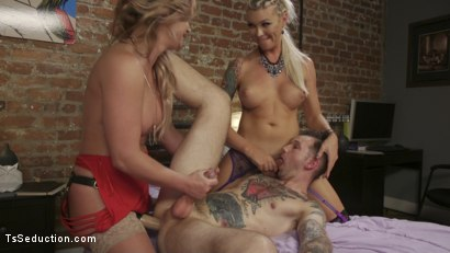Photo number 3 from Phoenix Marie's TS Threesome: What does she have that I don't have? shot for TS Seduction on Kink.com. Featuring Aubrey Kate, Will Havoc and Phoenix Marie in hardcore BDSM & Fetish porn.
