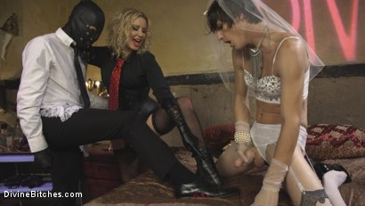 Photo number 9 from Honeymoon Cuckold At Hotel Divine shot for Divine Bitches on Kink.com. Featuring Maitresse Madeline Marlowe , Will Havoc and Tony Orlando in hardcore BDSM & Fetish porn.