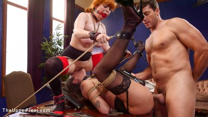 Photo number 7 from Uptight Babe Submits to Punishment and Squirts Everywhere shot for The Upper Floor on Kink.com. Featuring Ramon Nomar, Karlee Grey and Penny Pax in hardcore BDSM & Fetish porn.