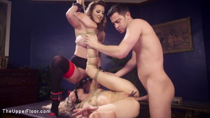 Photo number 14 from Eager Anal Cutie Returns to TUF to be Destroyed  shot for The Upper Floor on Kink.com. Featuring Seth Gamble, Emma Haize and Cherry Torn in hardcore BDSM & Fetish porn.