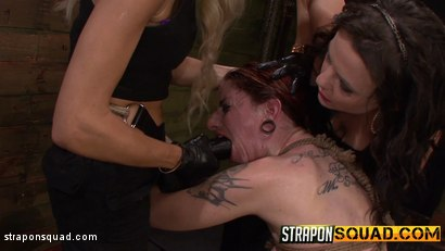 Photo number 16 from Sheena Rose Endures More Domination from Mila Blaze & Brooklyn Daniels shot for Strapon Squad on Kink.com. Featuring Sheena Rose, Brooklyn Daniels and Mila Blaze in hardcore BDSM & Fetish porn.