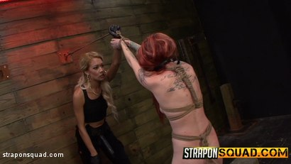 Photo number 4 from Sheena Rose Endures More Domination from Mila Blaze & Brooklyn Daniels shot for Strapon Squad on Kink.com. Featuring Sheena Rose, Brooklyn Daniels and Mila Blaze in hardcore BDSM & Fetish porn.