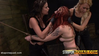 Photo number 6 from Sheena Rose Endures More Domination from Mila Blaze & Brooklyn Daniels shot for Strapon Squad on Kink.com. Featuring Sheena Rose, Brooklyn Daniels and Mila Blaze in hardcore BDSM & Fetish porn.