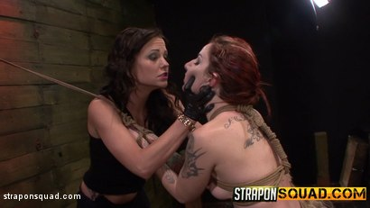 Photo number 8 from Sheena Rose Endures More Domination from Mila Blaze & Brooklyn Daniels shot for Strapon Squad on Kink.com. Featuring Sheena Rose, Brooklyn Daniels and Mila Blaze in hardcore BDSM & Fetish porn.