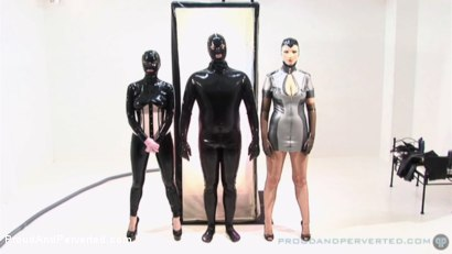 Photo number 2 from The Rubber Cabinet: Rubber Pixie, Pierced Cat, Andrew North shot for Proud and Perverted on Kink.com. Featuring  in hardcore BDSM & Fetish porn.