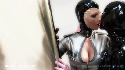 Photo number 15 from The Rubber Cabinet: Rubber Pixie, Pierced Cat, Andrew North shot for Proud and Perverted on Kink.com. Featuring  in hardcore BDSM & Fetish porn.