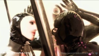 Photo number 5 from The Rubber Cabinet: Rubber Pixie, Pierced Cat, Andrew North shot for Proud and Perverted on Kink.com. Featuring  in hardcore BDSM & Fetish porn.