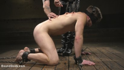 Photo number 5 from Returning House Slave Must Prove His Worth! shot for Bound Gods on Kink.com. Featuring Trenton Ducati and Brian Bonds in hardcore BDSM & Fetish porn.
