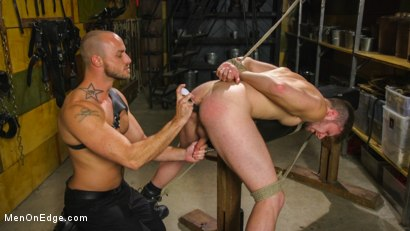 Photo number 11 from Muscled House Slave Begs to Cum In Bondage shot for Men On Edge on Kink.com. Featuring Brian Bonds in hardcore BDSM & Fetish porn.
