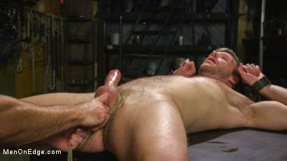 Photo number 8 from Muscled House Slave Begs to Cum In Bondage shot for Men On Edge on Kink.com. Featuring Brian Bonds in hardcore BDSM & Fetish porn.