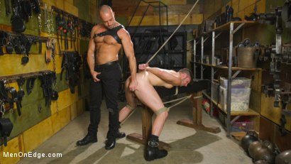Photo number 9 from Muscled House Slave Begs to Cum In Bondage shot for Men On Edge on Kink.com. Featuring Brian Bonds in hardcore BDSM & Fetish porn.