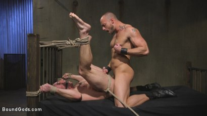 Photo number 13 from Beefy Muscular Hunk Deprived of Air and Fucked into Submission shot for Bound Gods on Kink.com. Featuring Jessie Colter and Jacob Durham in hardcore BDSM & Fetish porn.
