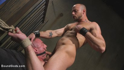 Photo number 14 from Beefy Muscular Hunk Deprived of Air and Fucked into Submission shot for Bound Gods on Kink.com. Featuring Jessie Colter and Jacob Durham in hardcore BDSM & Fetish porn.