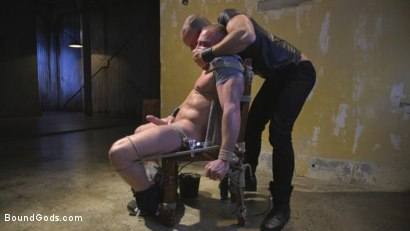 Photo number 3 from Beefy Muscular Hunk Deprived of Air and Fucked into Submission shot for Bound Gods on Kink.com. Featuring Jessie Colter and Jacob Durham in hardcore BDSM & Fetish porn.