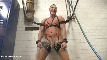 Photo number 7 from Straight Boy in the Locker Room is Abducted and Fucked! shot for Bound Gods on Kink.com. Featuring Brian Huggins and Christian Wilde in hardcore BDSM & Fetish porn.