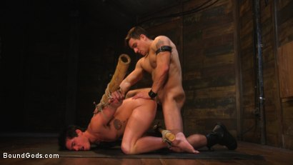 Photo number 14 from Welcome to the House, Master Boss shot for Bound Gods on Kink.com. Featuring Jordan Boss and Jett Jax in hardcore BDSM & Fetish porn.