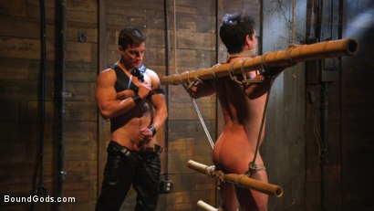 Photo number 10 from Welcome to the House, Master Boss shot for Bound Gods on Kink.com. Featuring Jordan Boss and Jett Jax in hardcore BDSM & Fetish porn.