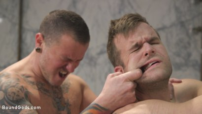 Photo number 12 from Hung stud finds a dirty bathroom pig to worship his giant cock shot for Bound Gods on Kink.com. Featuring Connor Patricks and Max Cameron in hardcore BDSM & Fetish porn.