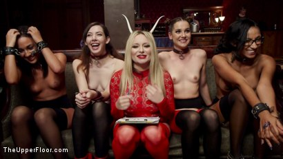 Photo number 11 from Anal Slaves Serve Kinky Costume Ball shot for The Upper Floor on Kink.com. Featuring Aiden Starr, Amara Romani, John Strong, Sadie Santana, Ramon Nomar, Kasey Warner and Ember Stone in hardcore BDSM & Fetish porn.