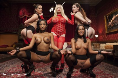 Photo number 12 from Anal Slaves Serve Kinky Costume Ball shot for The Upper Floor on Kink.com. Featuring Aiden Starr, Amara Romani, John Strong, Sadie Santana, Ramon Nomar, Kasey Warner and Ember Stone in hardcore BDSM & Fetish porn.