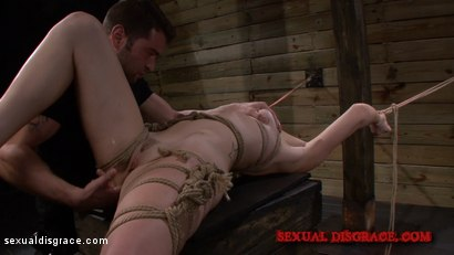 Photo number 9 from Marley Blaze Awaits Disgrace Tied to a Beam shot for Sexual Disgrace on Kink.com. Featuring Marley Blaze and John Pepe in hardcore BDSM & Fetish porn.