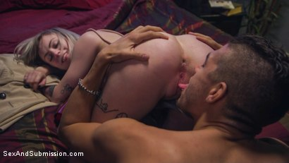 Photo number 3 from Tinder Nightmare shot for Sex And Submission on Kink.com. Featuring Xander Corvus, Charlotte Cross and Anna Tyler in hardcore BDSM & Fetish porn.
