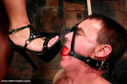 Photo number 5 from Sandra Romain and Wild Bill shot for Men In Pain on Kink.com. Featuring Sandra Romain and Wild Bill in hardcore BDSM & Fetish porn.