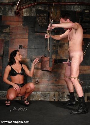 Photo number 3 from Sandra Romain and Wild Bill shot for Men In Pain on Kink.com. Featuring Sandra Romain and Wild Bill in hardcore BDSM & Fetish porn.